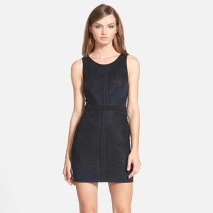 ASTR navy blue dress with black lace